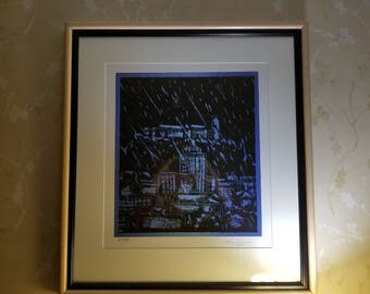 Blue city, Milar Milash, Signed print 1935/1976