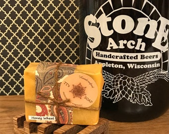 Vegan Honey Wheat Beer Soap Bar