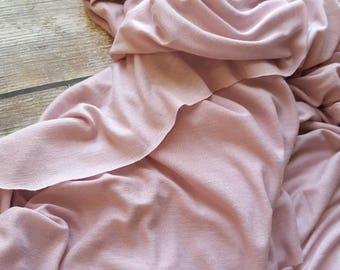 Light purple poly rayon lycra blend knit fabric, one yard - solid knit fabric - rayon blend fabric - lycra fabric - modal fabric