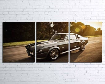 1967 Mustang Shelby GT500 Eleanor 3pc Wall Canvas