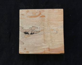 Good Tree Fine Wares Spalted Maple Cutting Board 4.5 x 4.5