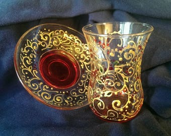 Very beautiful handmade glass cup