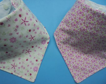 bandana baby bibs pack of 2 100% cotton