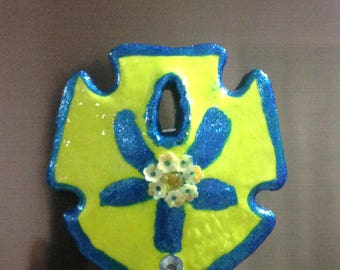 Hand Painted Neon Sand Dollar Magnet