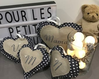 hanging heart personalized