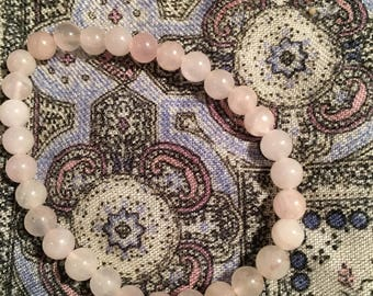 6mm Rose quartz Bracelet