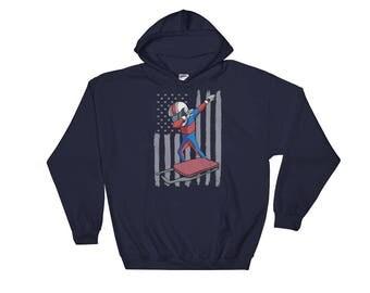 USA Luge Hoodie Funny Dabbing Winter Games Sweatshirt