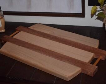Mahogany/Maple Cutting Board & Serving Tray