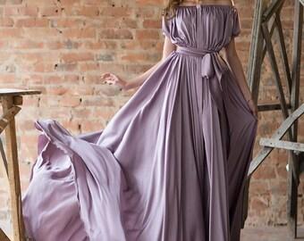 """Evening Dress, Prom Dress  """"Dalla Lilac"""" fromof silk """"Armani"""""""