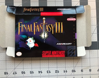 Final Fantasy III Original SNES Case Journal