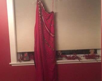 Red Beaded Bob Mackie Long dress