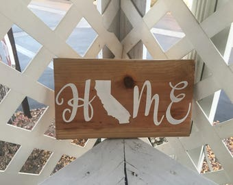 Custom Made Home State Sign, 5x12in.