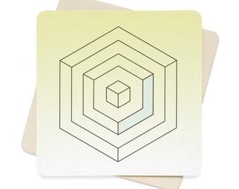 Geometric Coaster Set  6Pcs