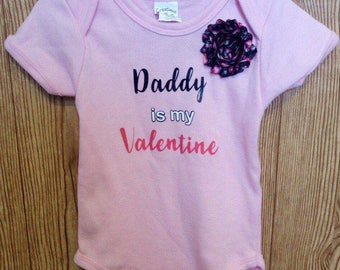 Daddy is my valentine bodysuit