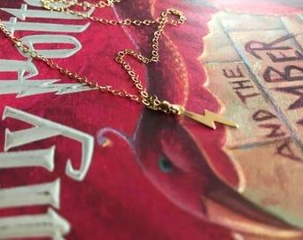 14k gold filled lightning bolt necklace