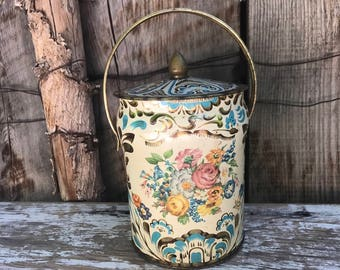 Colorful Floral Shabby Chic Tin