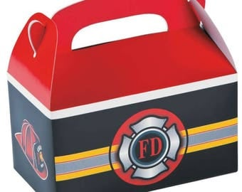 Fire Hydrant party/ firefighter party/ firefighter treat box/ firefighter  Birthday/firefighters Birthday/ firefighter favor box/