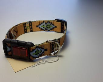 Southwestern pattern dog collar