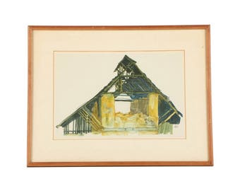"Egon Schiele's ""Old Gable"""