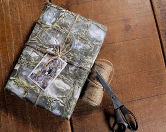Sussex Flint Eco Wrapping Paper and Gift Tag