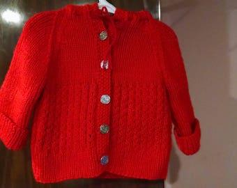 Baby handmade sweater with hood