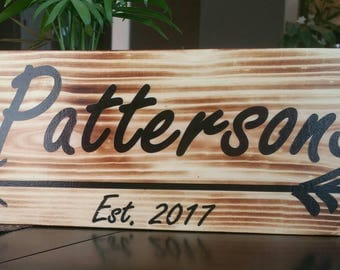 Personalized Family Name with Arrow