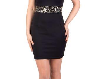 Sequin party black dress
