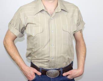 VIntage Ruddock Pearl Snap Western Shirt USA Size Large