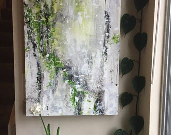 "Art, Original Abstract Painting, Acrylic Painting on Panel, Titled Clarity 24"" x 18"""
