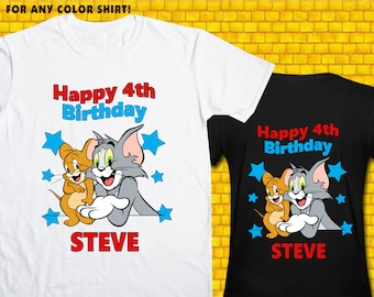 Tom And Jerry / Iron On Transfer / Tom And Jerry Shirt Design / DIY Shirt / High Resolution / For Any Color T Shirt / 12 Hours Turnaround