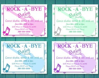 Rock-A-Buy Baby Shower Invite