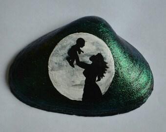 Hand painted seashell art