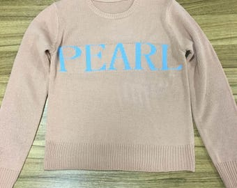 NAiME 2018 SIZE SMALL New Personalized Sweaters with NAME Monogram Jumper Colorful Rainbow Fashionable Sweater Made to Order