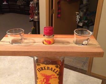 Wood whiskey holder