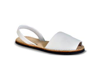 avarca sandals - white- leather sandals, avarcas, espadrilles, leather avarcas, menorquinas, sandals, menorca sandals, espadrilles