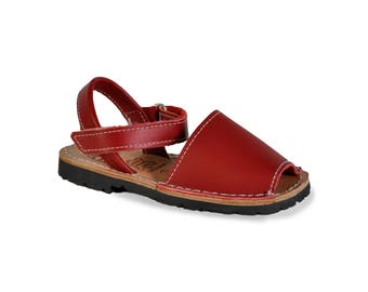 kids avarca sandals - red - kids sandals, avarcas, espadrilles, kids shoes, menorquinas, sandals, children sandals, espadrilles