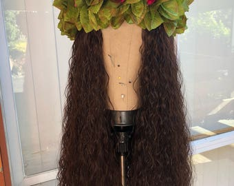 Moana wig- Dark Brown