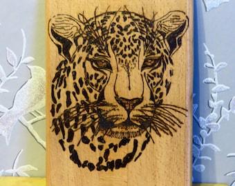 Leopard Wood Burned Hanging Art