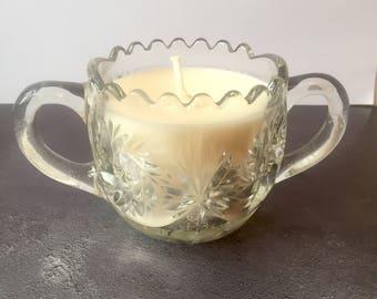Vintage Glass Candle - Apple & Mint Fragrance