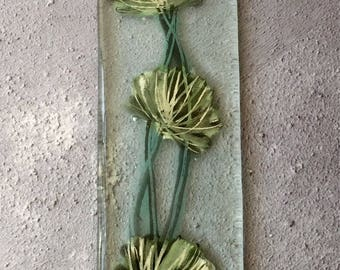Fused Glass Seagrass Hanger