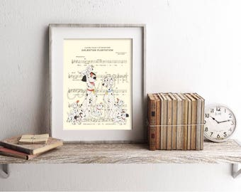 One Hundred and One Dalmatians Sheet Music Art Print