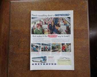 1951 Original  Greyhound bus ad