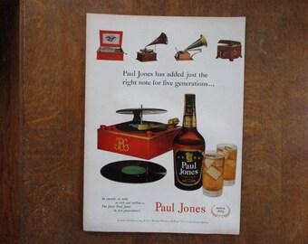 1951 Original Vintage Paul Jones Blended Whiskey ad