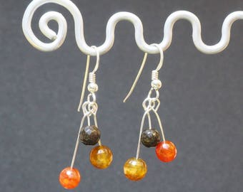 Agate Drop Earrings | Sterling Silver Ear Wires | Silver Jewellery | Gift for Her