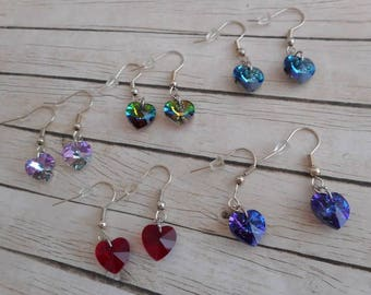 Earrings heart Stud Earrings