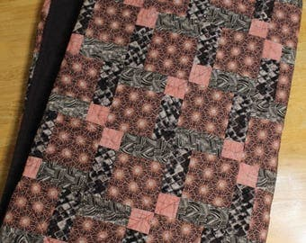 Pink, Black, and Gray Quilt, Girl Quilt, All Proceeds DONATED TO CHARITY!!!