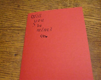 Gothic Calligraphy Valentine's Day Card