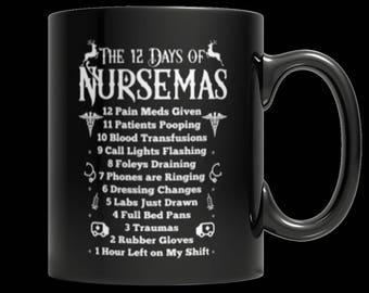Nursemas Black Mug