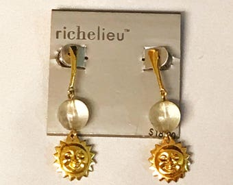 Vintage 1980's Richelieu Sun Earrings