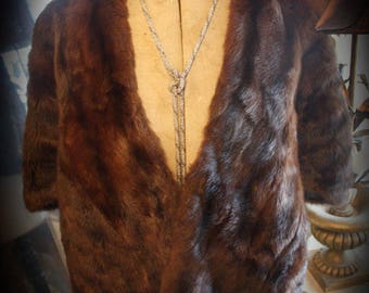 Gorgeous Vintage Fur Cloak Shawl